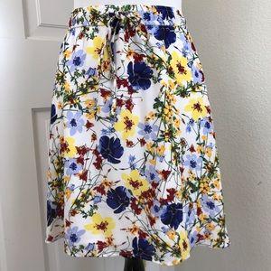 Banana Republic Valerie Skirt Chiffon Floral Lined